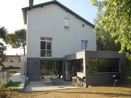 modele veranda maison ancienne extension de plein pied en toit terrasse 50 m2 sur maison récente