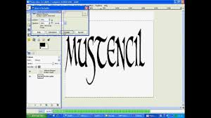 how to make stencil letters in gimp youtube