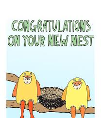 congrats on your new card new home card congratulations on your new nest