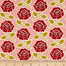 riley blake farm rose trellis pink discount designer fabric