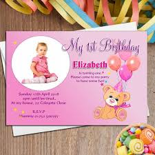 template printable 1st birthday invitation card for baby boy