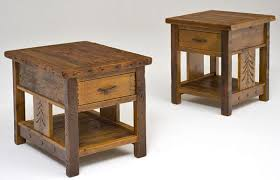 wood end tables with drawers barnwood end tables nightstands rustic bedroom furnishings