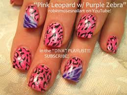 2 nail art designs diy easy pink leopard u0026 zebra nails tutorial