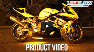 ledglow yellow classic led motorcycle light kit