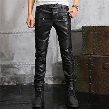 leather motorcycle pants 2018 top mens jeans new sales european and american style leather