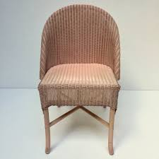 pink lusty lloyd loom vintage wicker chair 1950s chaise vintage
