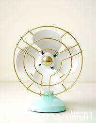 spray painted fan i like the two toned look diy pinterest