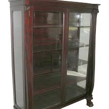 antique bookcase glass doors antique mahogany bookcase glass panel doors claw feet 1870 u0027s from