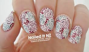 nailed it nz bouquet of roses nail art essie nail lacquer