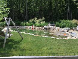 Backyard Swimming Ponds - vermont natural swimming pond vermont landscaping design