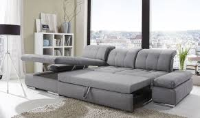 Sleeper Sofa Alpine Sectional Sleeper Sofa Left Arm Chaise Facing Black