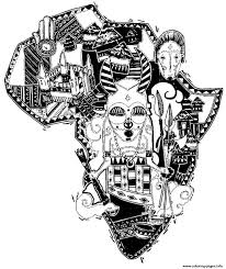 africa difficult map coloring pages printable