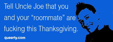 queerty and glaad suggest thanksgiving and