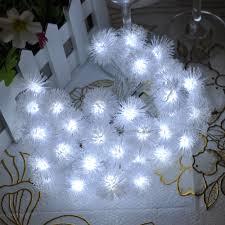 40led 4m white snow pompon led string led christmas light wedding