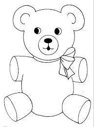 teddy bear wear cute ribbon coloring page color luna