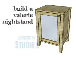 a simple nightstand to build with a mirrored door u2013 designs by