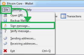 bitcoin info how to sign a message with bitcoin private key bitcoin core