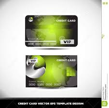 Credit Card Design Template Green Metal Sphere Vip Credit Card Vector Template Stock Vector