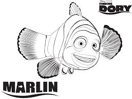 marlin finding dory printable coloring page