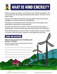 what is wind energy worksheet education com