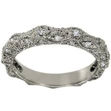 what is milgrain dacarli diamond wedding band in 14k white gold with a