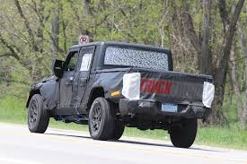 old jeep truck spied wrangler jl pickup testing on public roads