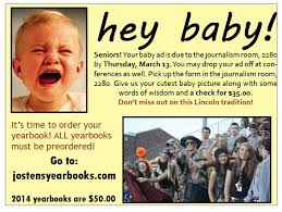 baby yearbook hey baby ads lincoln high school