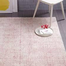 parallels wool rug macaroon pink west elm