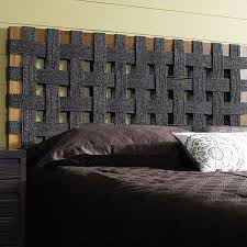 sea grass open weave headboard black natural teak frame dcg