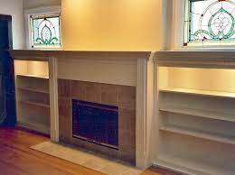 Fireplace Mantels With Bookcases Built In Furniture Silver Hammer Remodeling