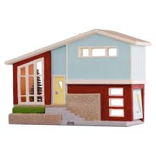 nostalgic houses and shops split level home ornament