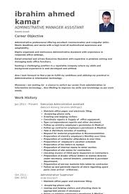 Executive Assistant Resume Sample by Manager Assistant Resume Samples Visualcv Resume Samples Database