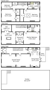 29 best townhouse floor plans images on pinterest floor plans