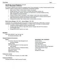 94 Good Sales Resume Examples by Career Perfect Sales Management Sample Resume Recentresumes Com