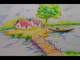 how to draw beautiful drawing how to draw a beautiful scenery for easy drawing tutorial