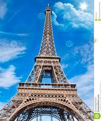 beautiful scene in eiffel tower paris stock photography image
