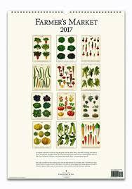 cavallini calendars cavallini 2017 wall calendar farmer s market pickle papers