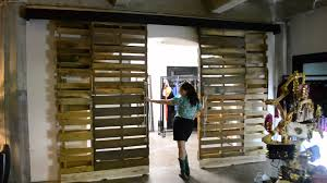 Reclaimed Wood Interior Doors Reclaimed Wooden Pallet Sliding Doors