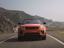 orange range rover in defense of the new range rover evoque convertible the drive