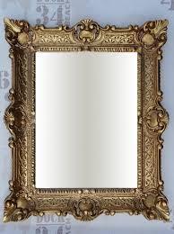 wall mirror gold antique baroque bathroom floor vanity 56x46 9