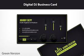 Business Card Music Audio Engineer Business Cards Logo Business Card Templates