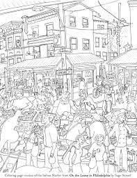 coloring book philadelphia the italian market