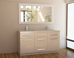 adorna 60 inch white double sink bathroom vanity in white set