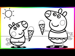 peppa pig coloring pages kids peppa coloring book coloring