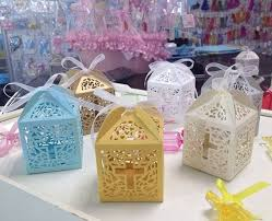 where to buy party favors new 50pcs lots cross jesus candy boxes holder christian laser cut