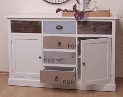 Wohnzimmerschrank Verschieben Anrichte Massiv Kiefer Kommode Sideboard Weiß Grau Braun Antik