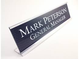plaque de bureau personnalisé bureau personnalisé nom plaque plaque didentification en