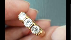 model berlian 692 cincin berlian banjar mata 3 besar ring emas kuning