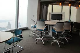 White Meeting Table Gray Fiberglass Swivel Chairs With Modern White Meeting Table For