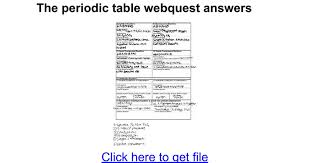 the periodic table webquest answers google docs